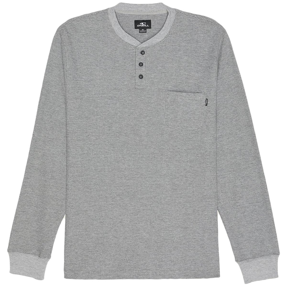 O'neill Men's Olympia Long-Sleeve Henley Shirt - Black, XL