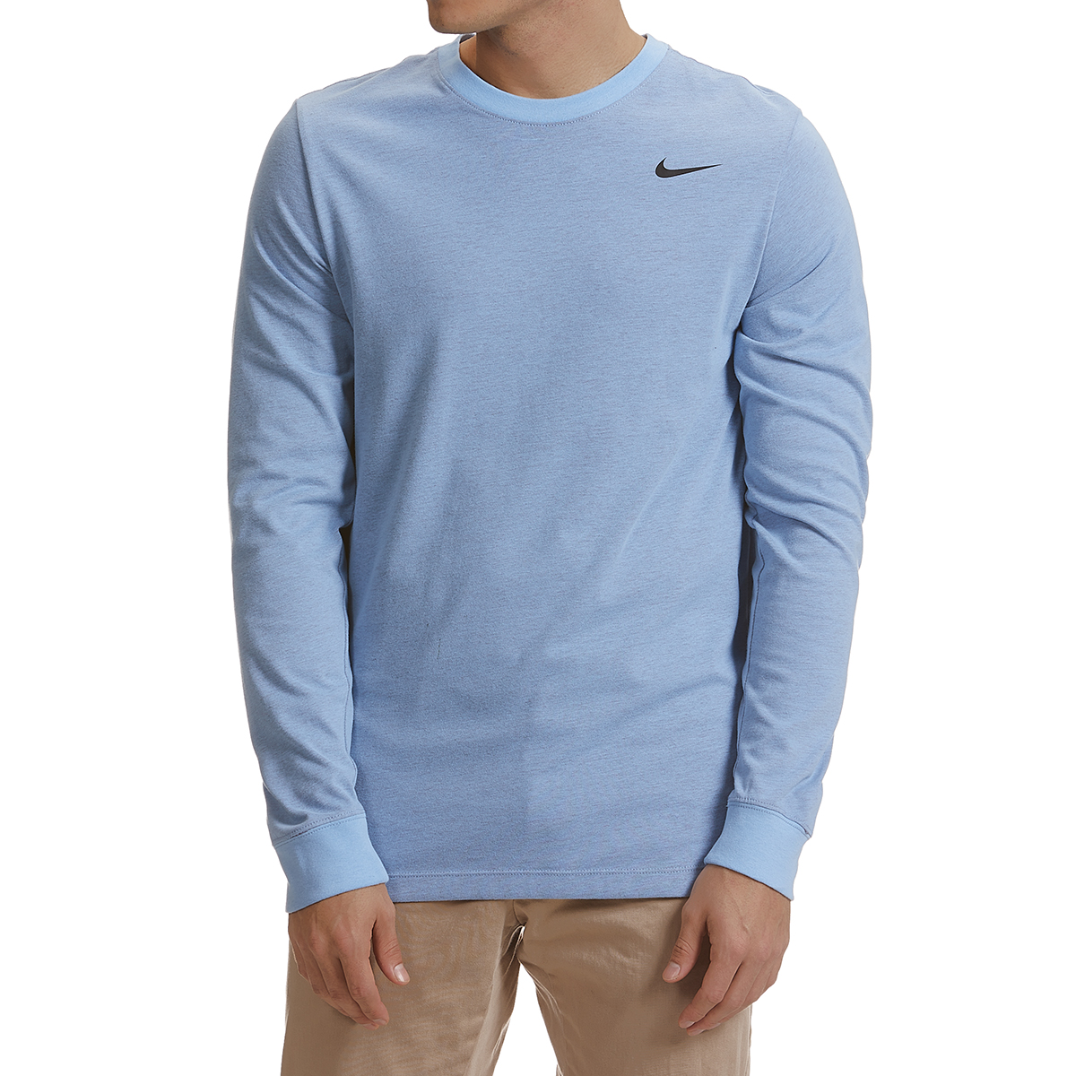 Nike Men's Long-Sleeve Dri-Fit Tee - Blue, XXL
