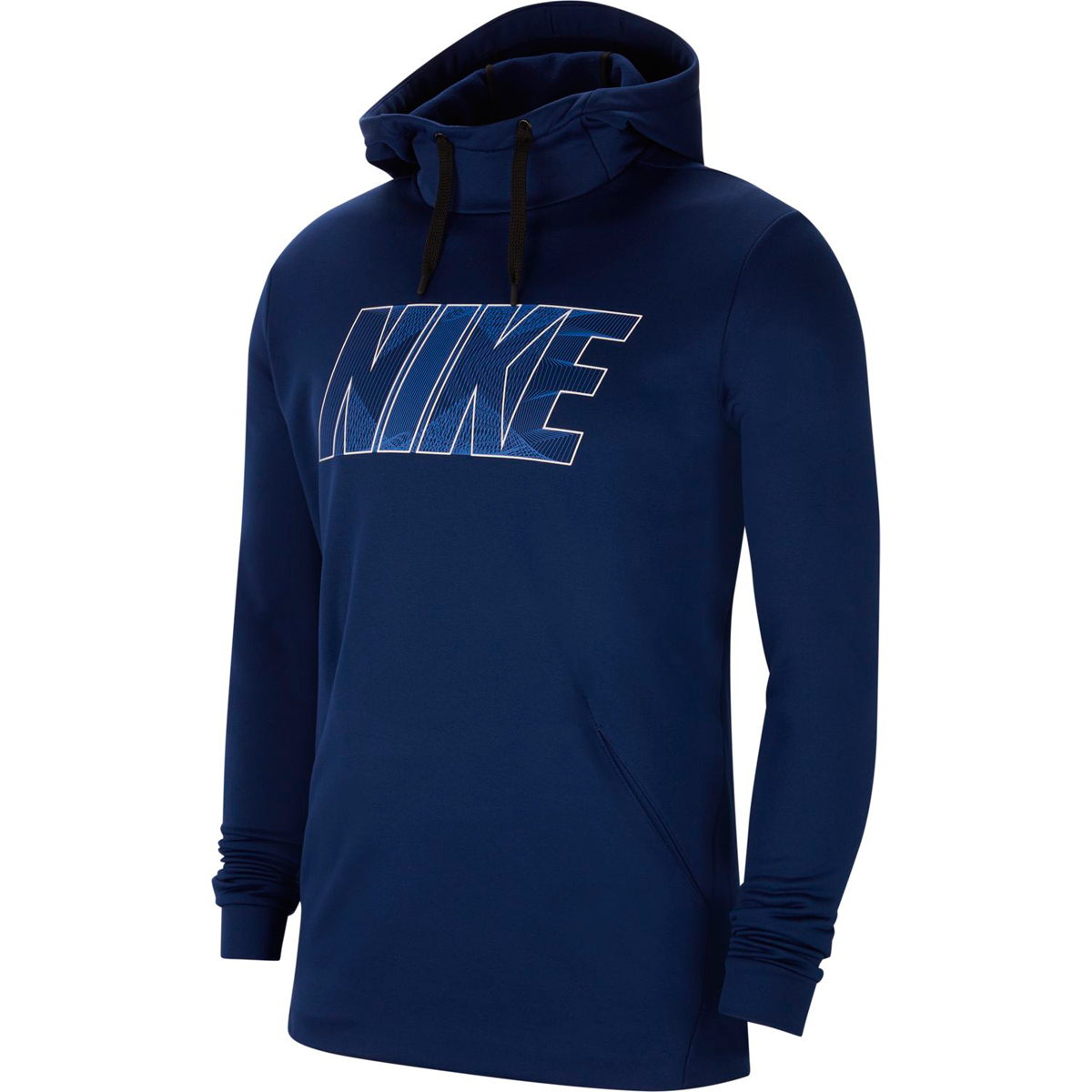 Nike Men's Therma Fleece Pullover Training Top - Blue, L
