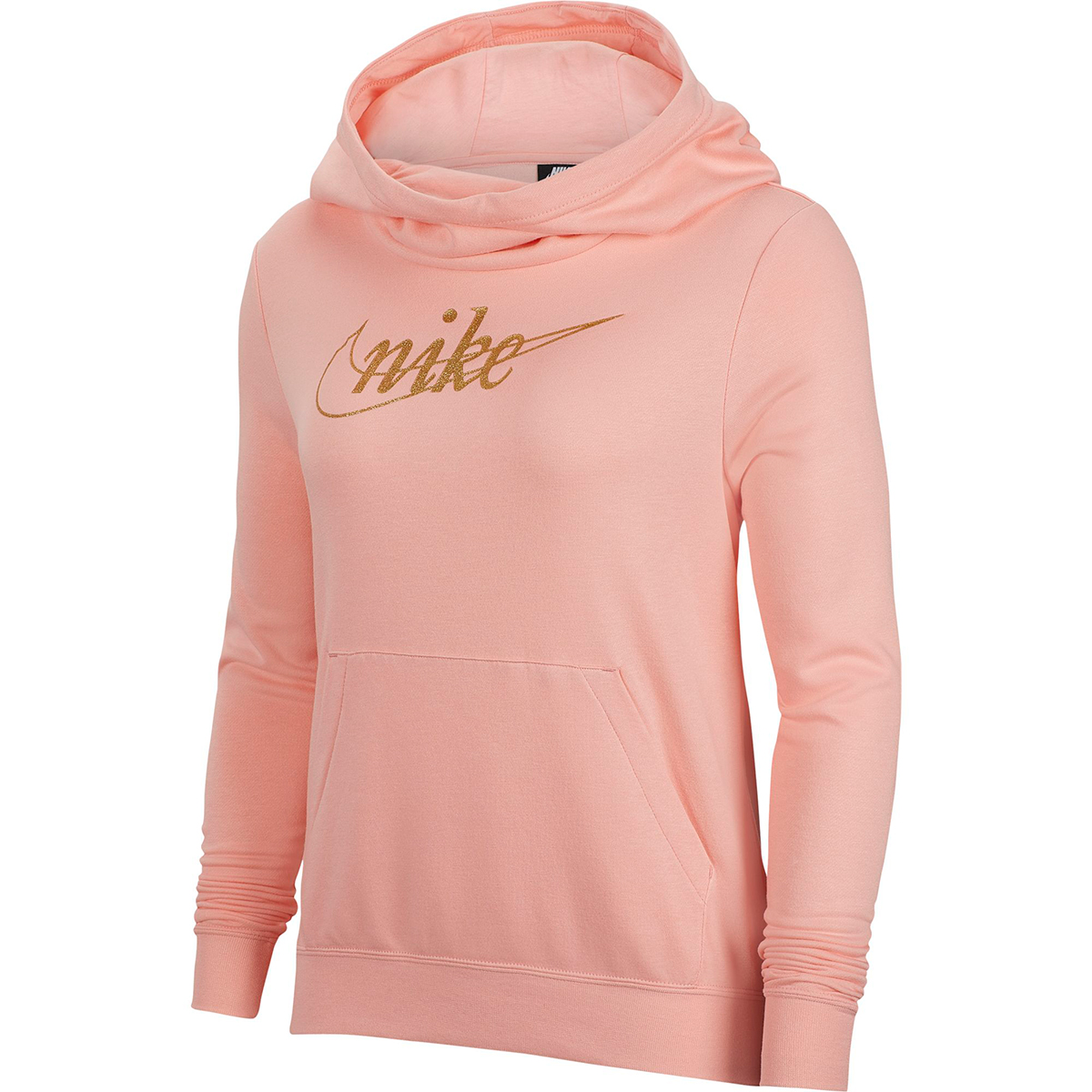 Nike Women's Glitter Logo Pullover Hoodie - Red, M