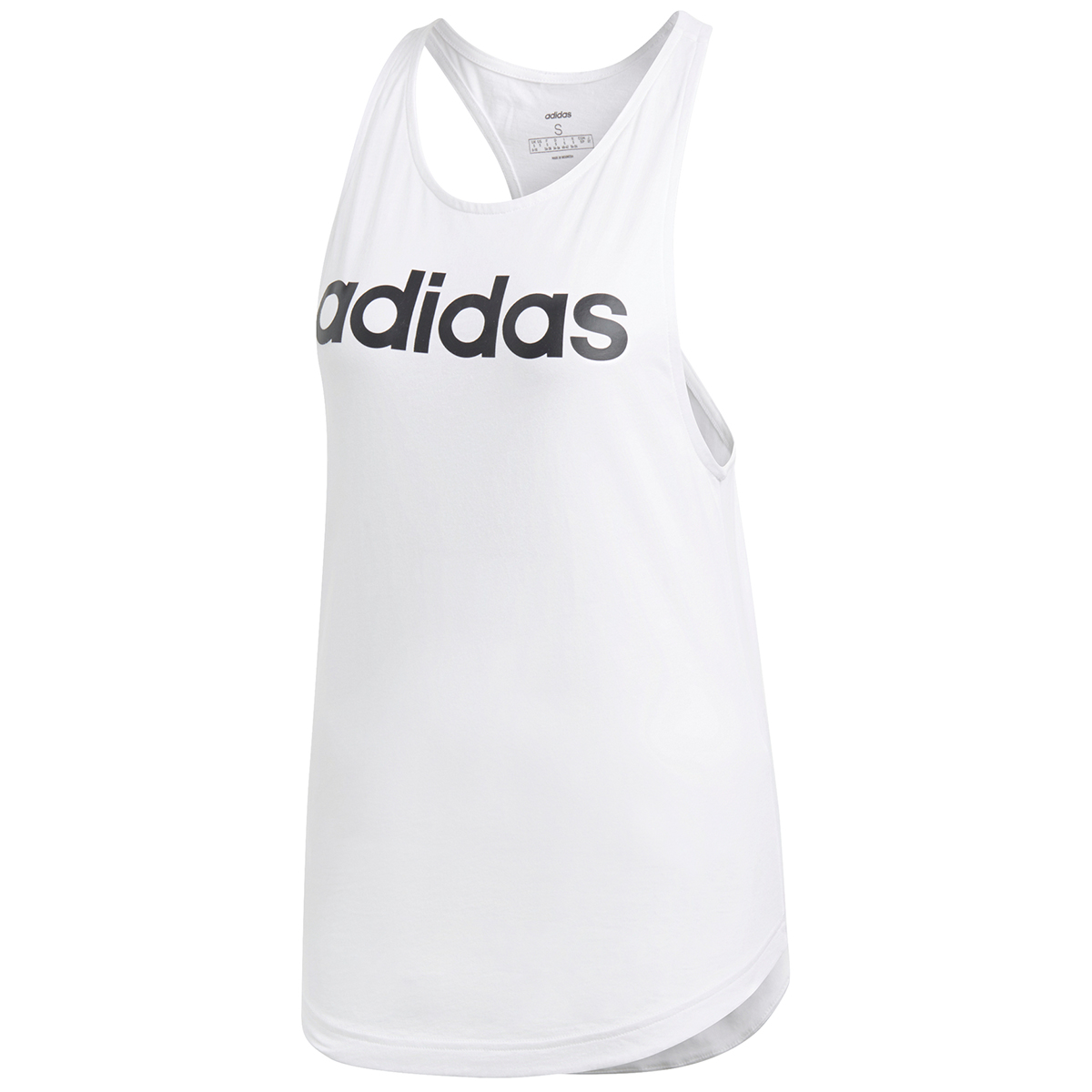 Adidas Women's Essentials Linear Loose Tank Top - White, L