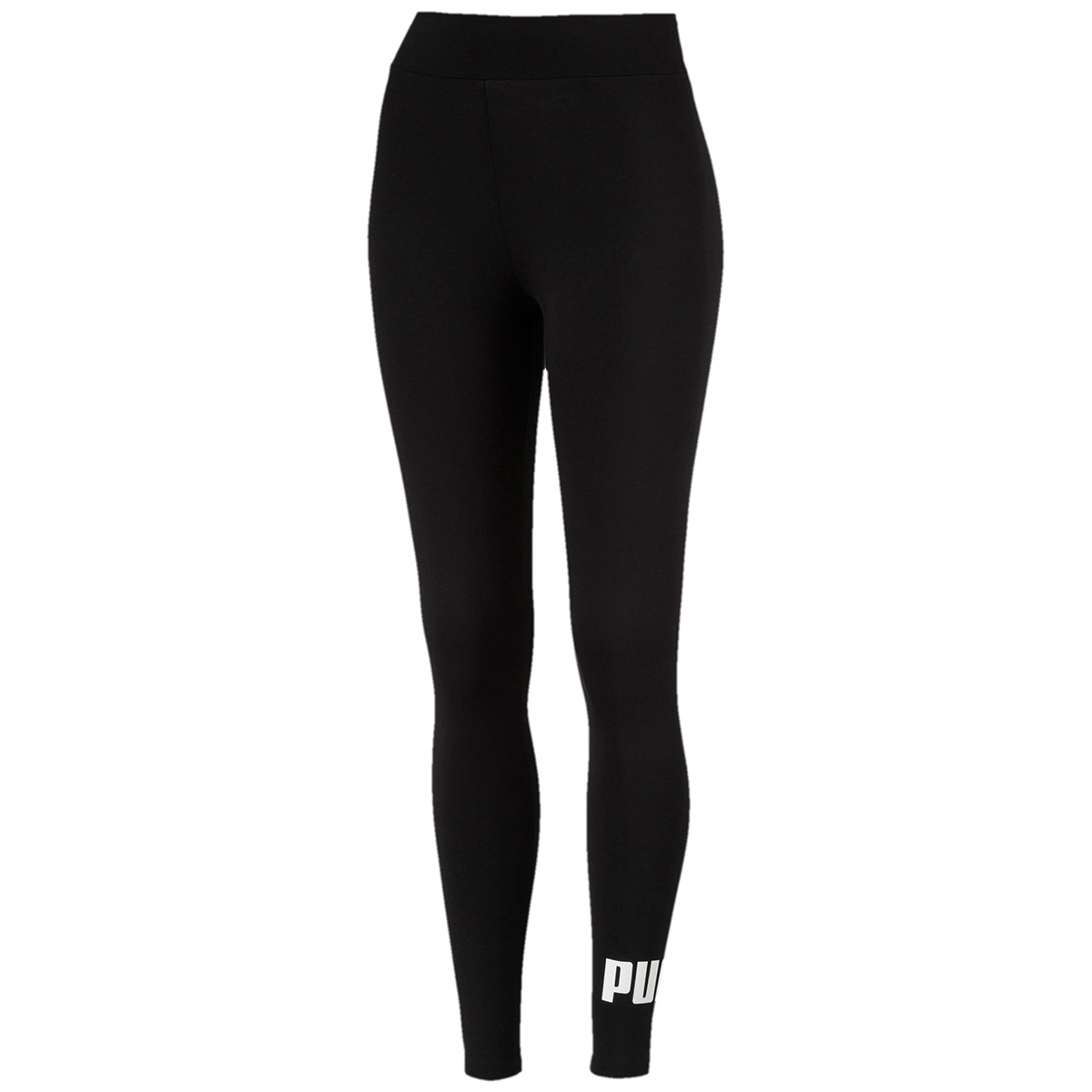 Puma Women's Mid Rise Essentials Logo Leggings - Black, XL