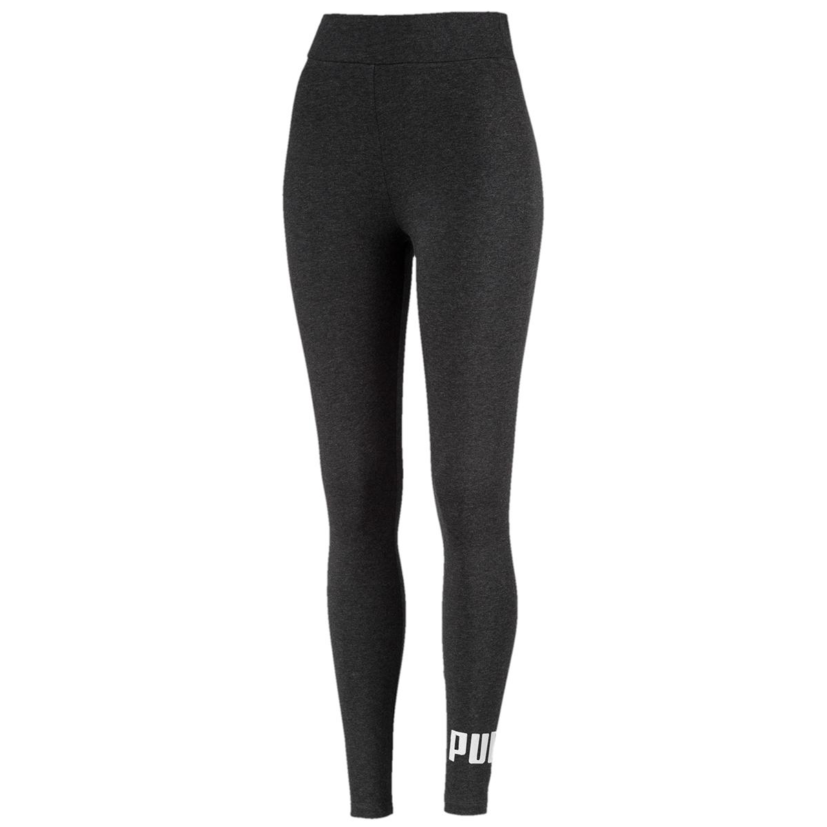 Puma Women's Mid Rise Essentials Logo Leggings - Black, S