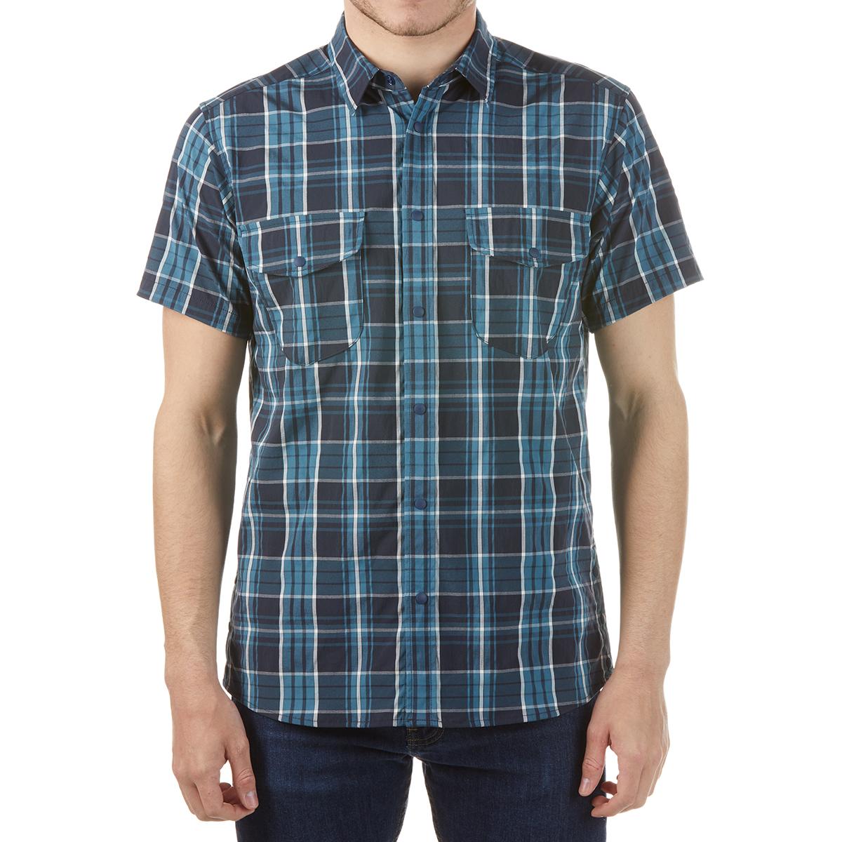Karrimor Men's Yacuma Original Check Short-Sleeve Shirt - Blue, L