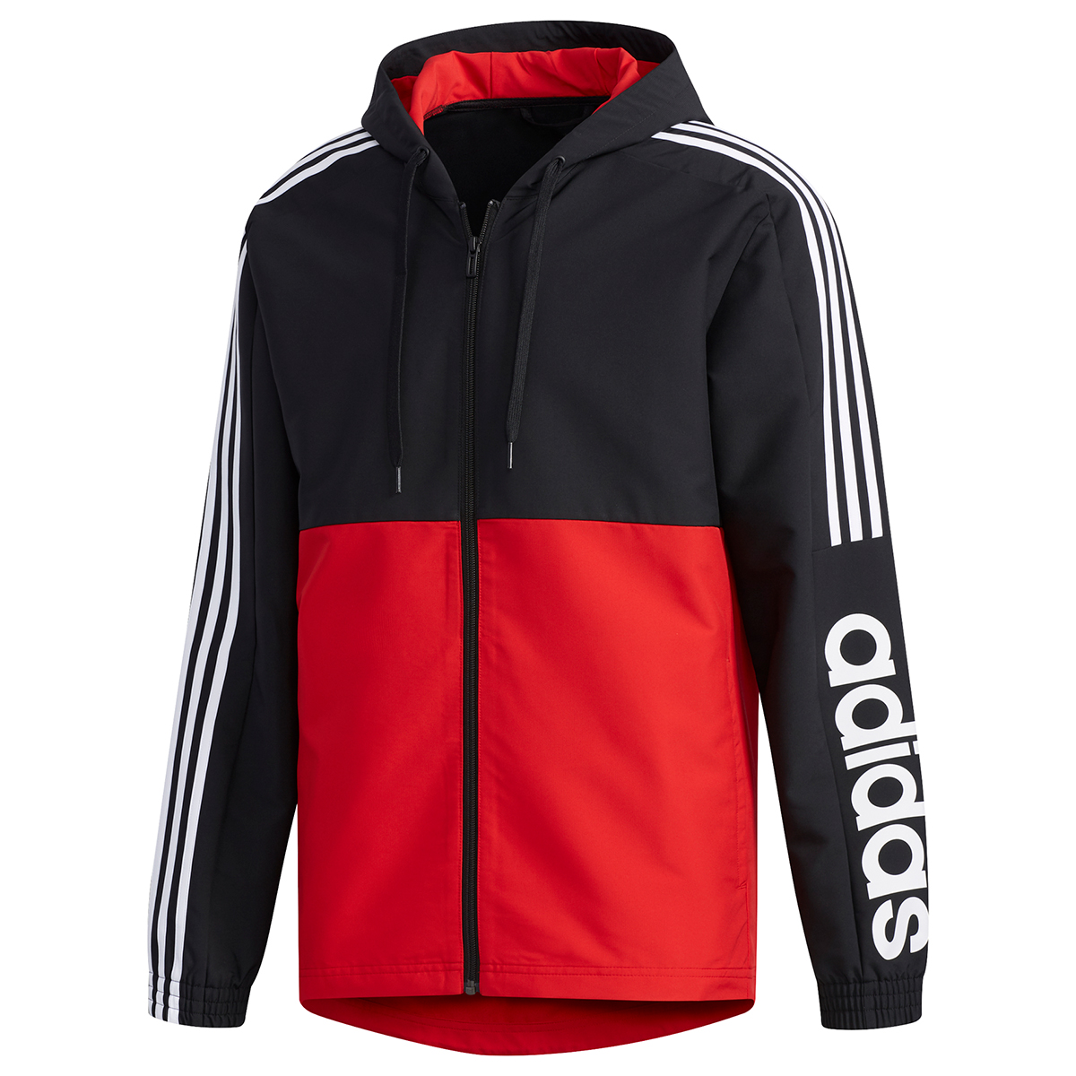 Adidas Men's Essential Colorblock Windbreaker Jacket - Black, XXL
