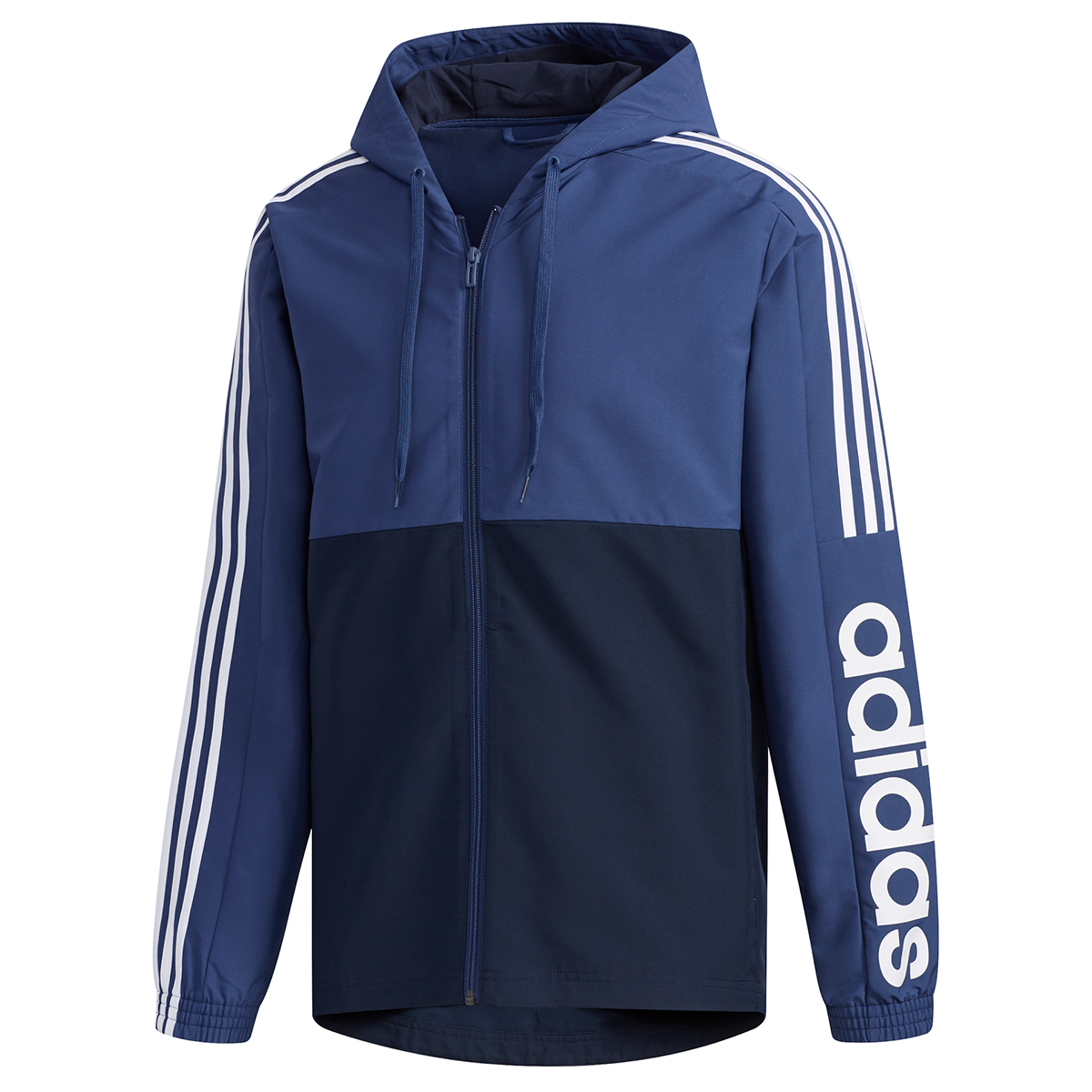 Adidas Men's Essential Colorblock Windbreaker Jacket - Blue, XL