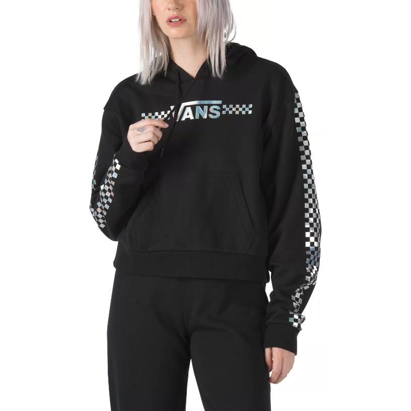 Vans Juniors' Shine It Hooded Crop Top - Black, XL