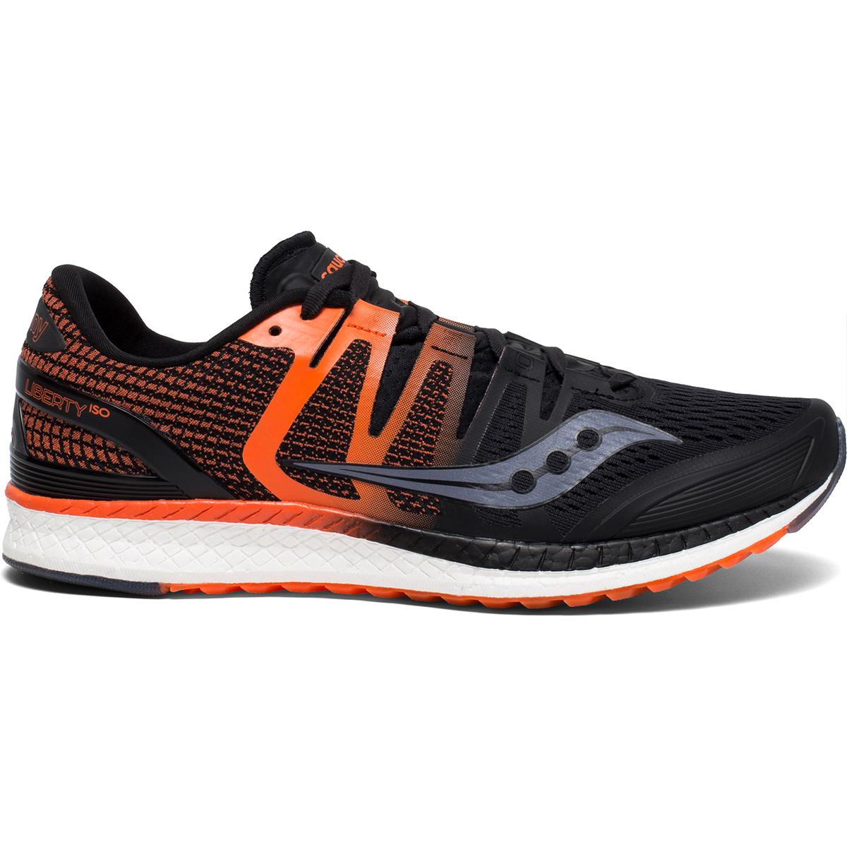 Saucony Men's Liberty Iso Running Shoe - Black, 10.5