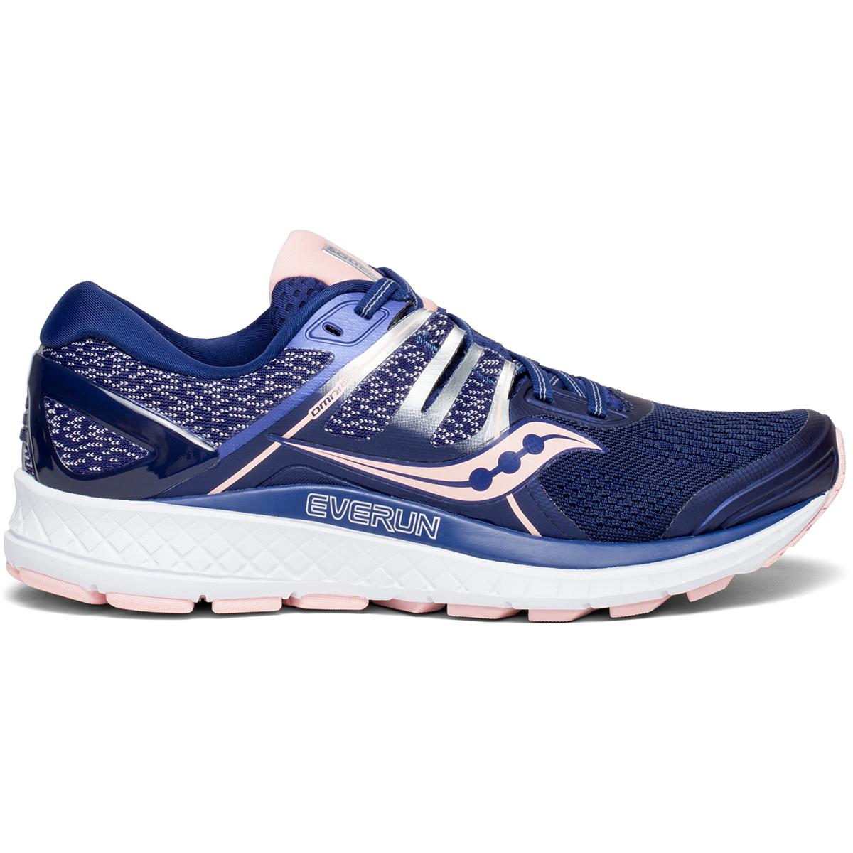Saucony Women's Omni Iso Running Shoe, Wide - Blue, 7.5