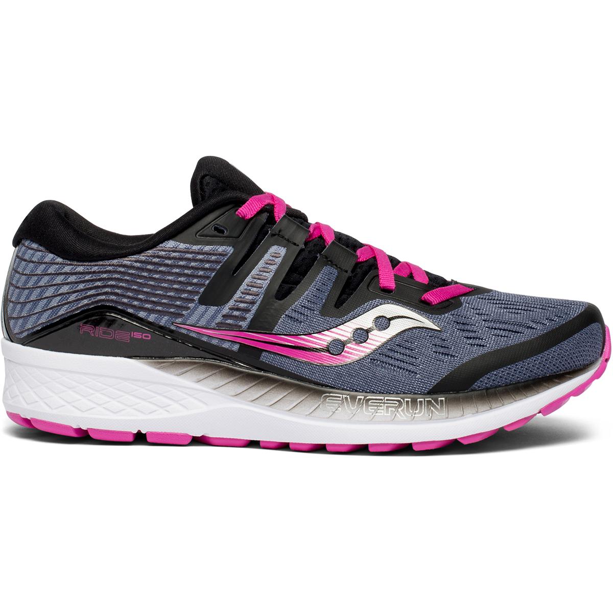 Saucony Women's Ride Iso Running Shoe - Black, 6.5