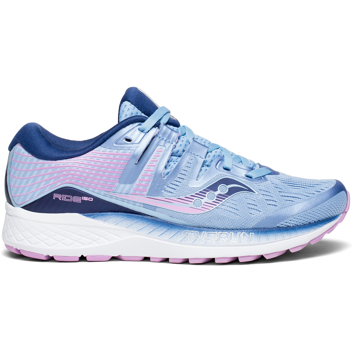 Saucony Women's Ride Iso Running Shoe - Blue, 8