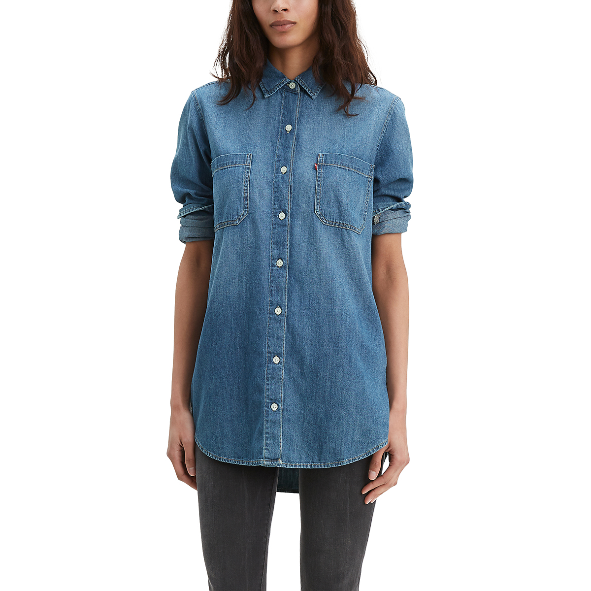 Levi's Women's Leni Long-Sleeve Tunic - Blue, S