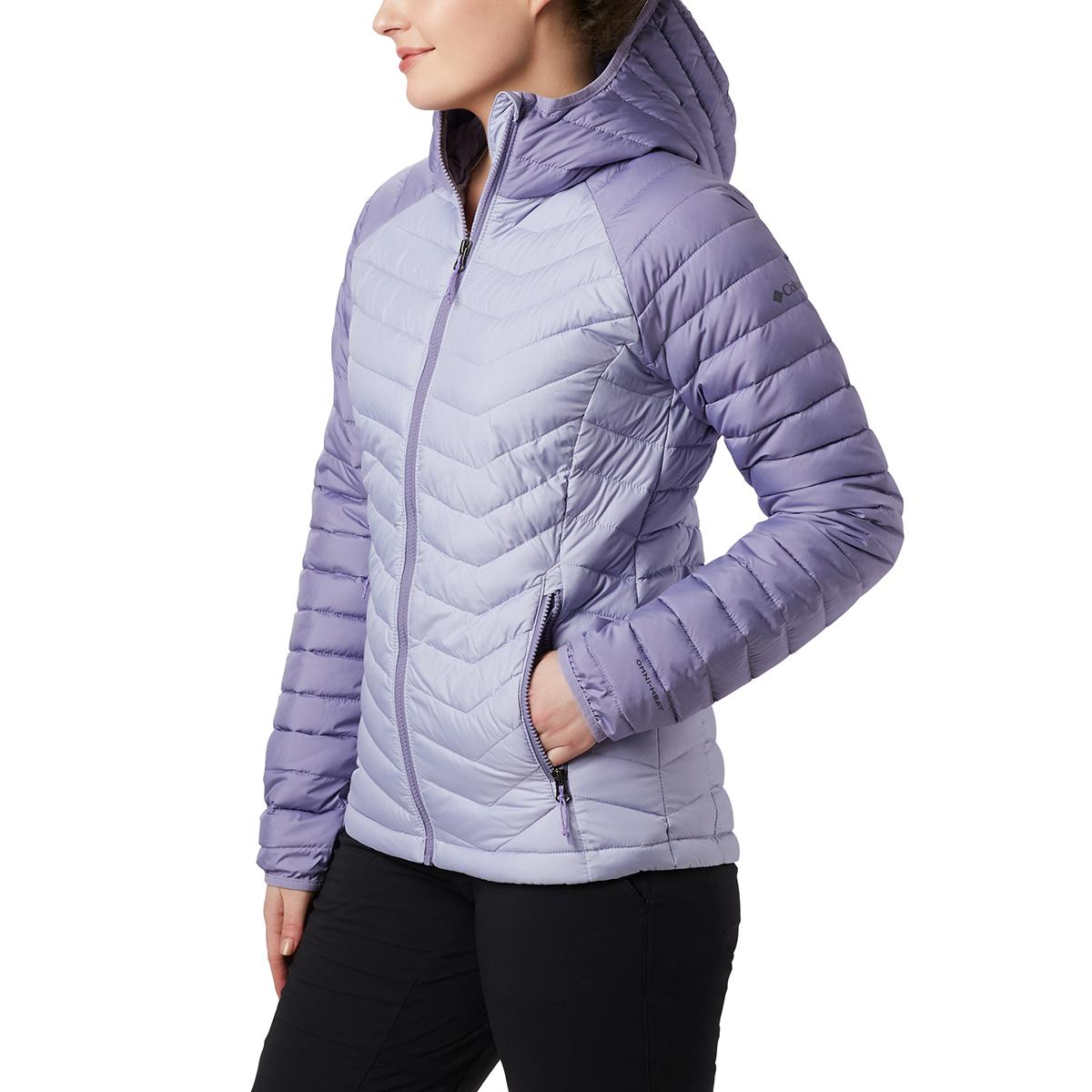 Columbia Women's Powder Lite Hooded Jacket - Purple, S