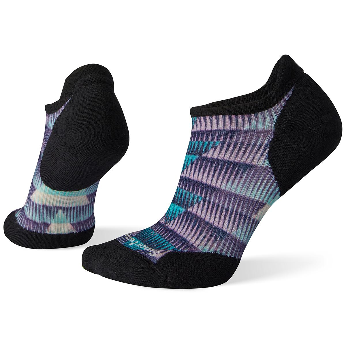 Smartwool Women's Phd Run Light Elite Chevron Print Micro Socks - Blue, M