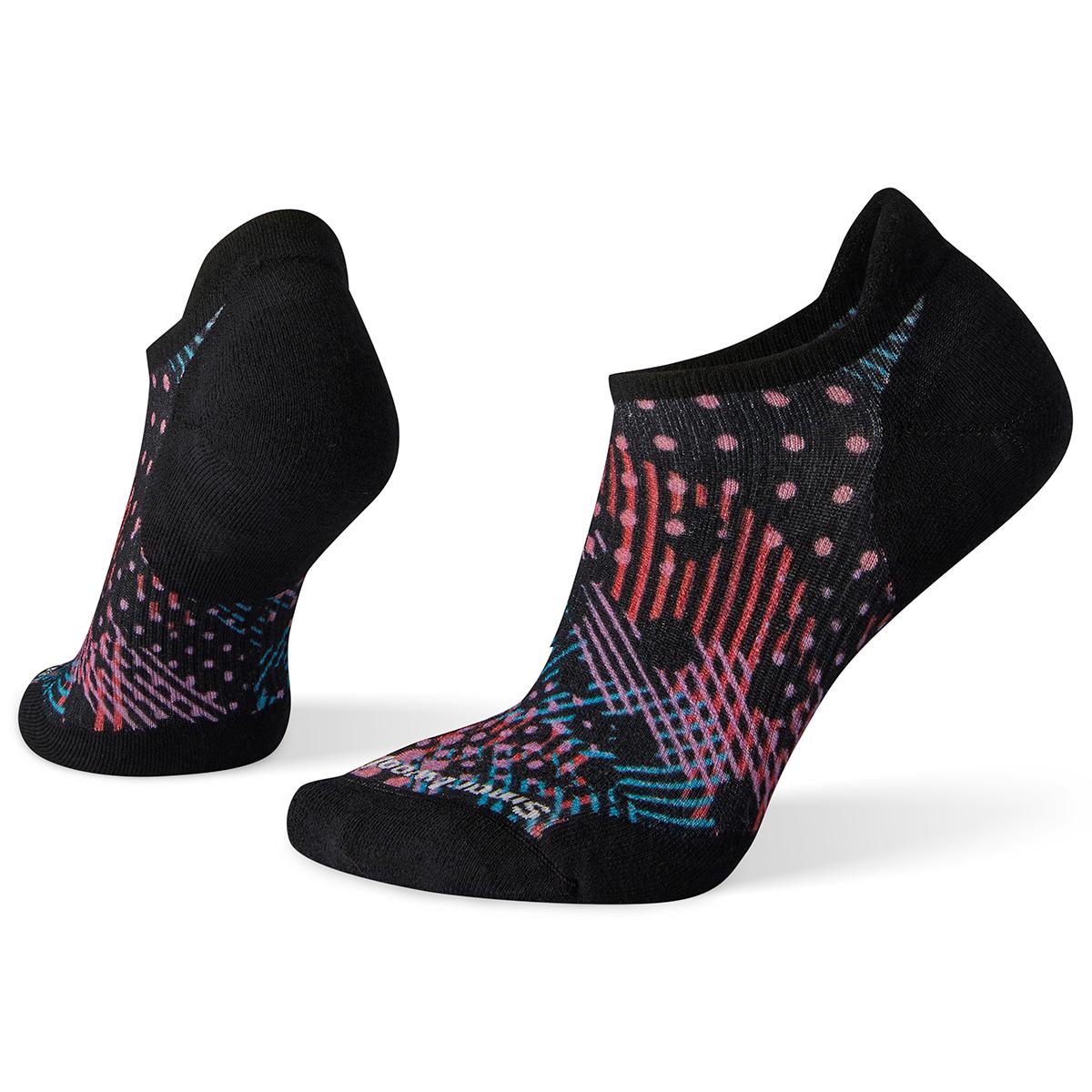 Smartwool Women's Phd Run Elite Dot Print Micro Socks - Black, L
