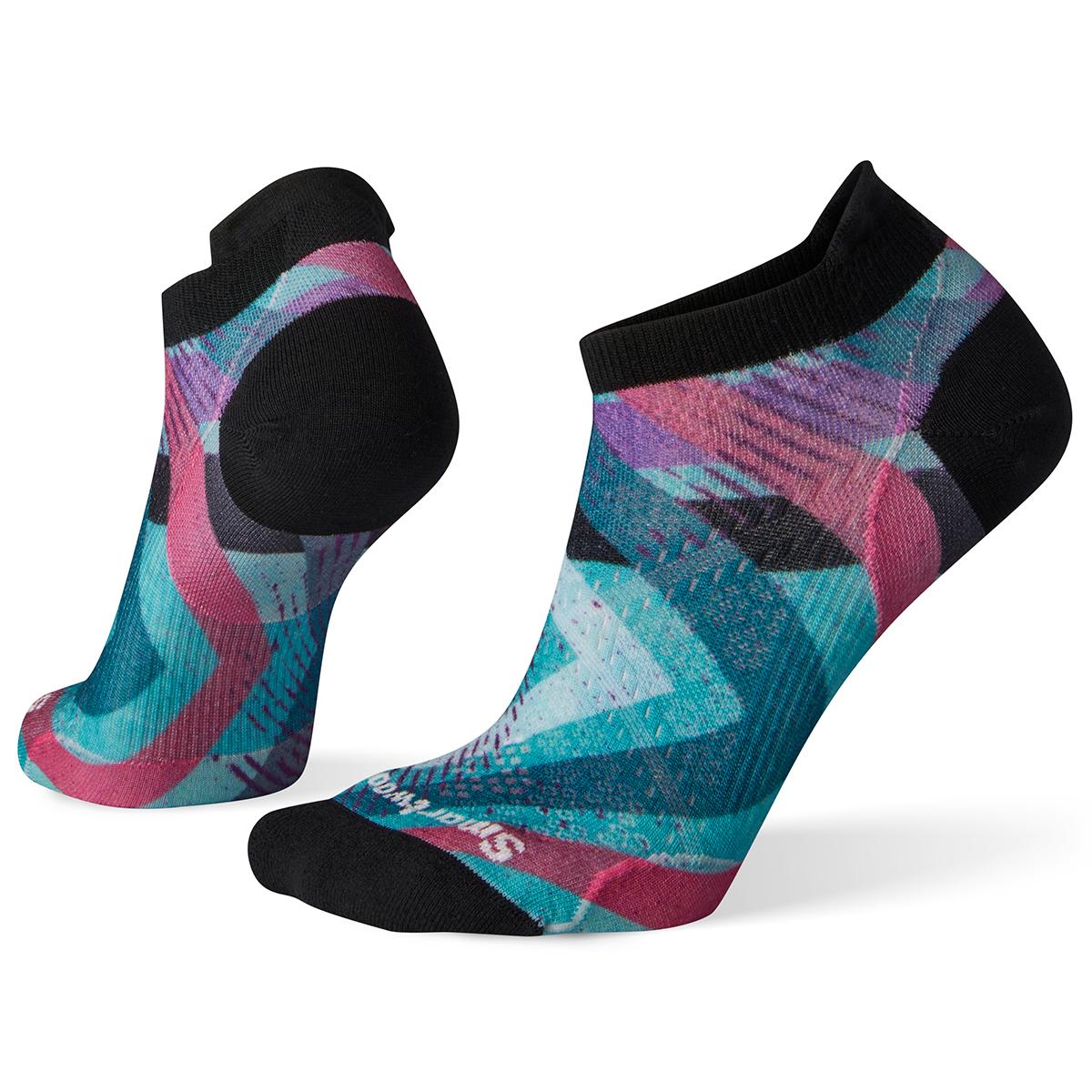 Smartwool Women's Phd Cycle Ultra Light Print Micro Socks - Purple, L