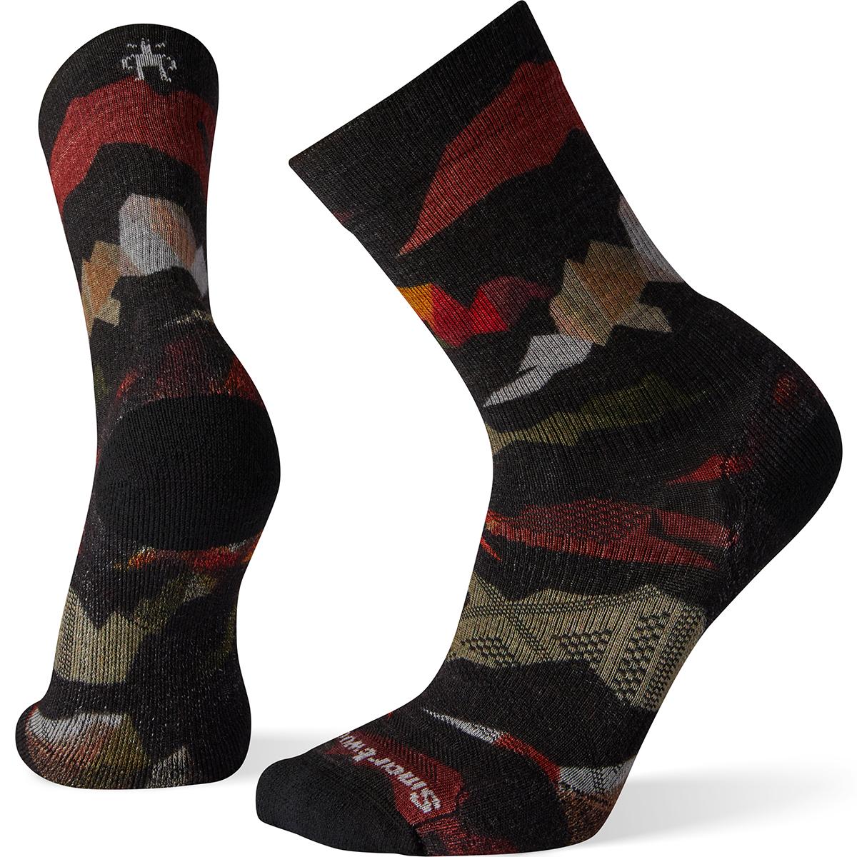 Smartwool Men's Phd Outdoor Light Mountain Camo Crew Socks - Black, XL