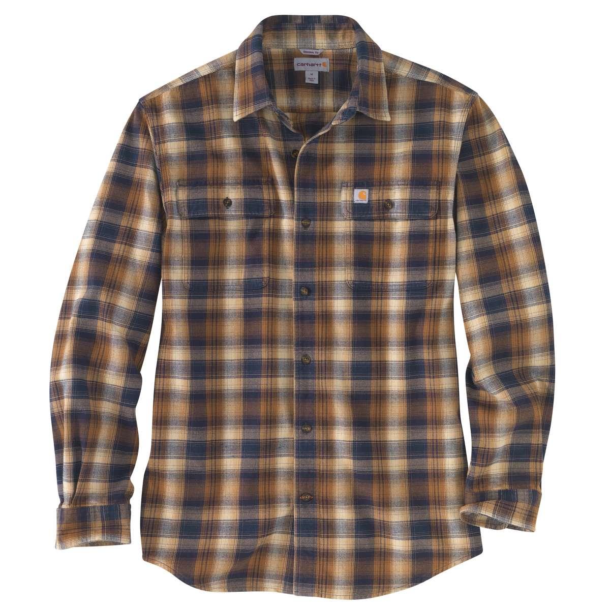 Carhartt Men's Hubbard Flannel Long-Sleeve Shirt, Extended Sizes - Blue, 3XL