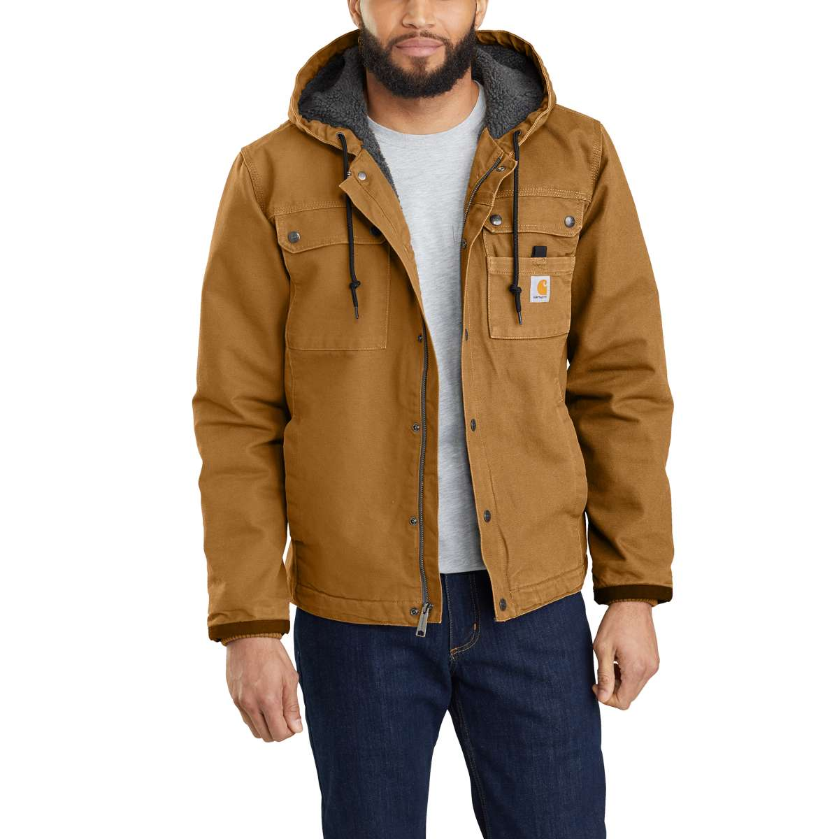 Carhartt Men's Bartlett Jacket, Extended Sizes - Brown, 3XL
