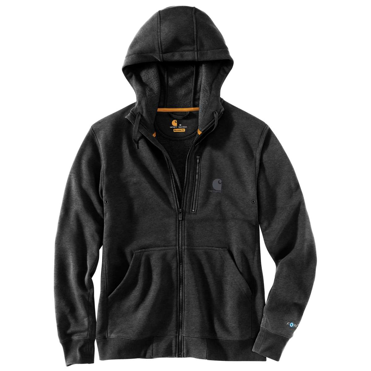 Carhartt Men's Force Delmont Graphic Full-Zip Hooded Sweatshirt, Extended Sizes - Black, 4XL