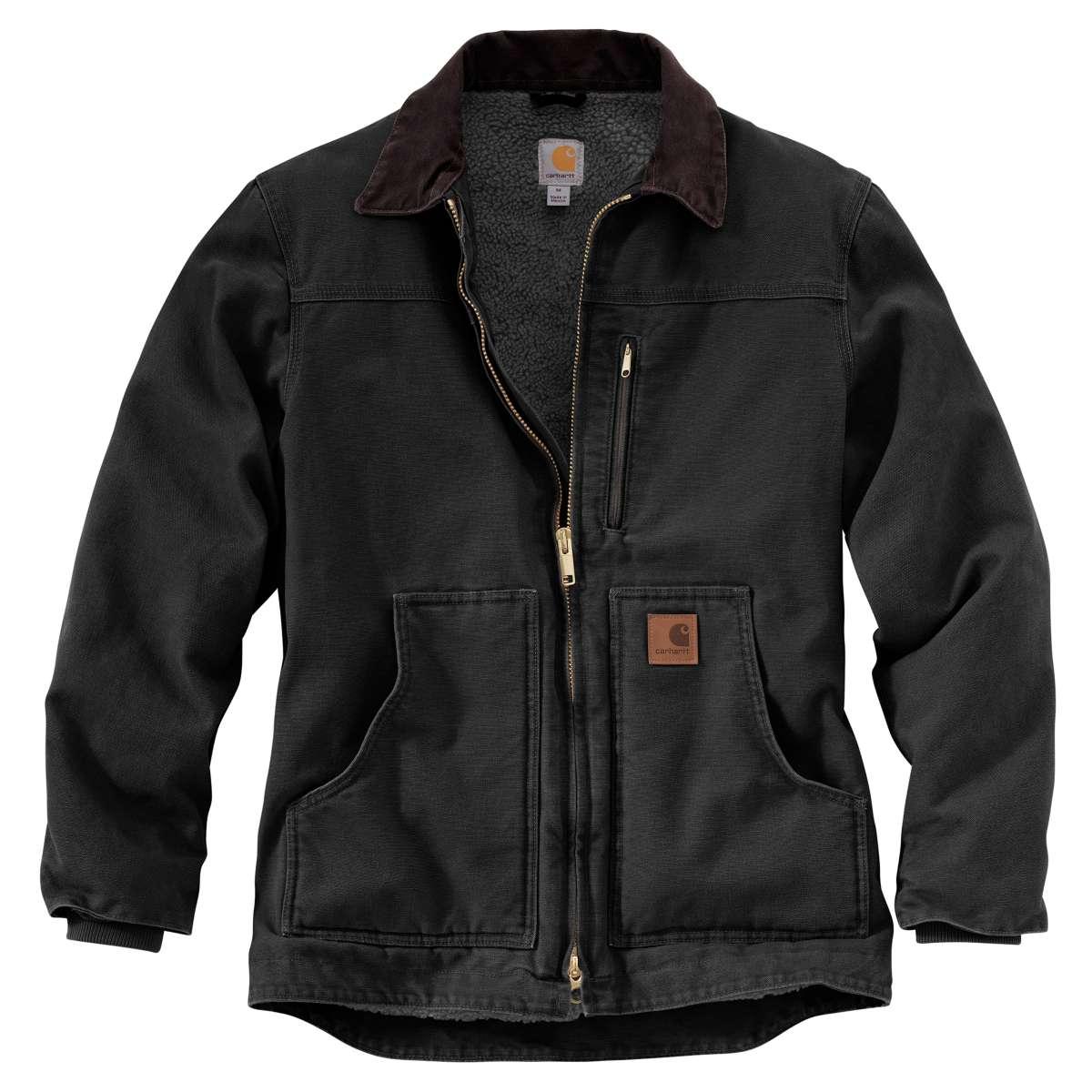 Carhartt Men's Sandstone Ridge Coat, Extended Sizes - Black, 3XLT