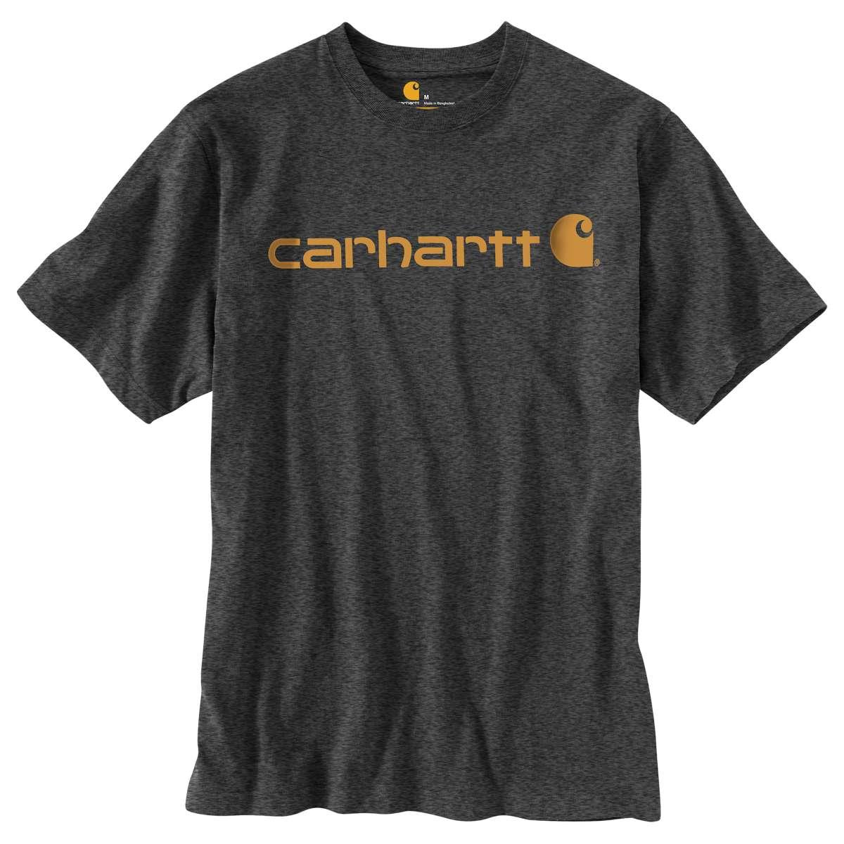 Carhartt Men's Logo Short-Sleeve Tee, Extended Sizes - Black, XLT