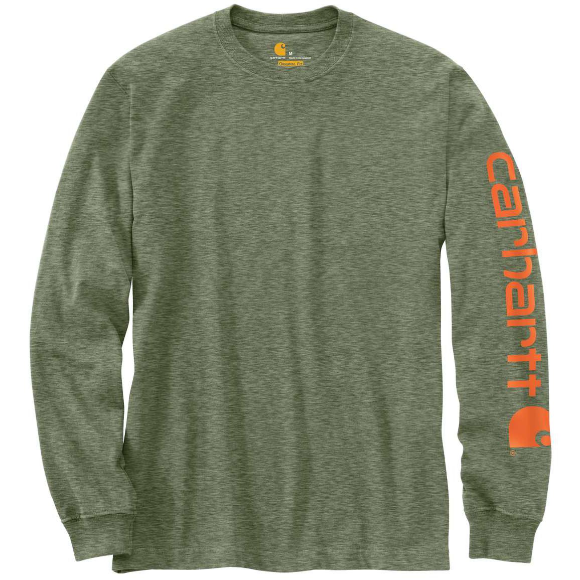 Carhartt Men's Logo Long-Sleeve Shirt, Extended Sizes - Green, 3XL