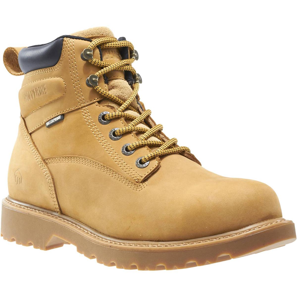 Wolverine Men's Floorhand Wp 6 In. Soft Toe Work Boots - Brown, 13