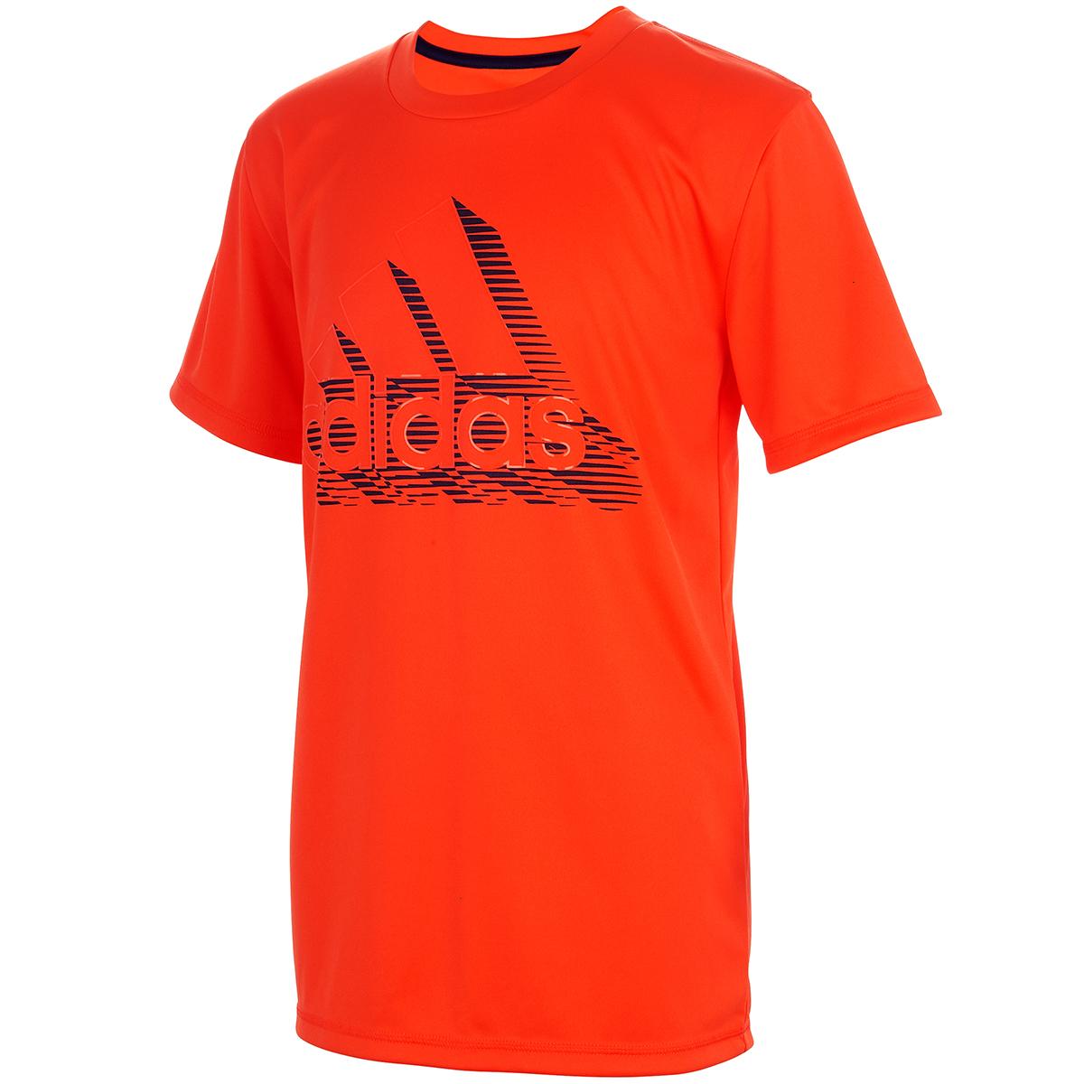 Adidas Boys' Badge Of Sport Short-Sleeve Tee - Orange, XL