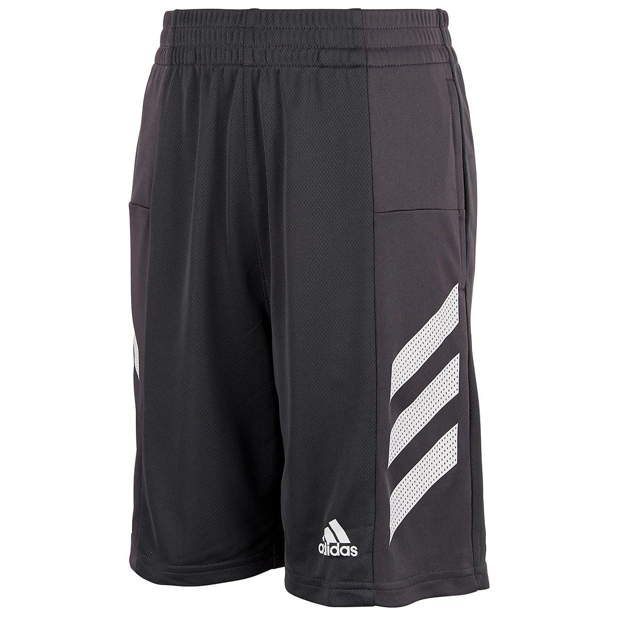 Adidas Boys' Pro Sport 3-Stripe Shorts - Black, XL