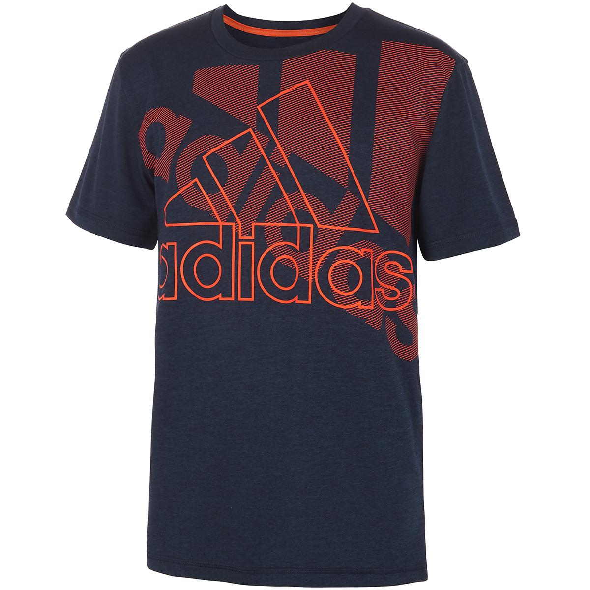 Adidas Little Boys' Short-Sleeve Badge Of Sport Tee - Blue, 7