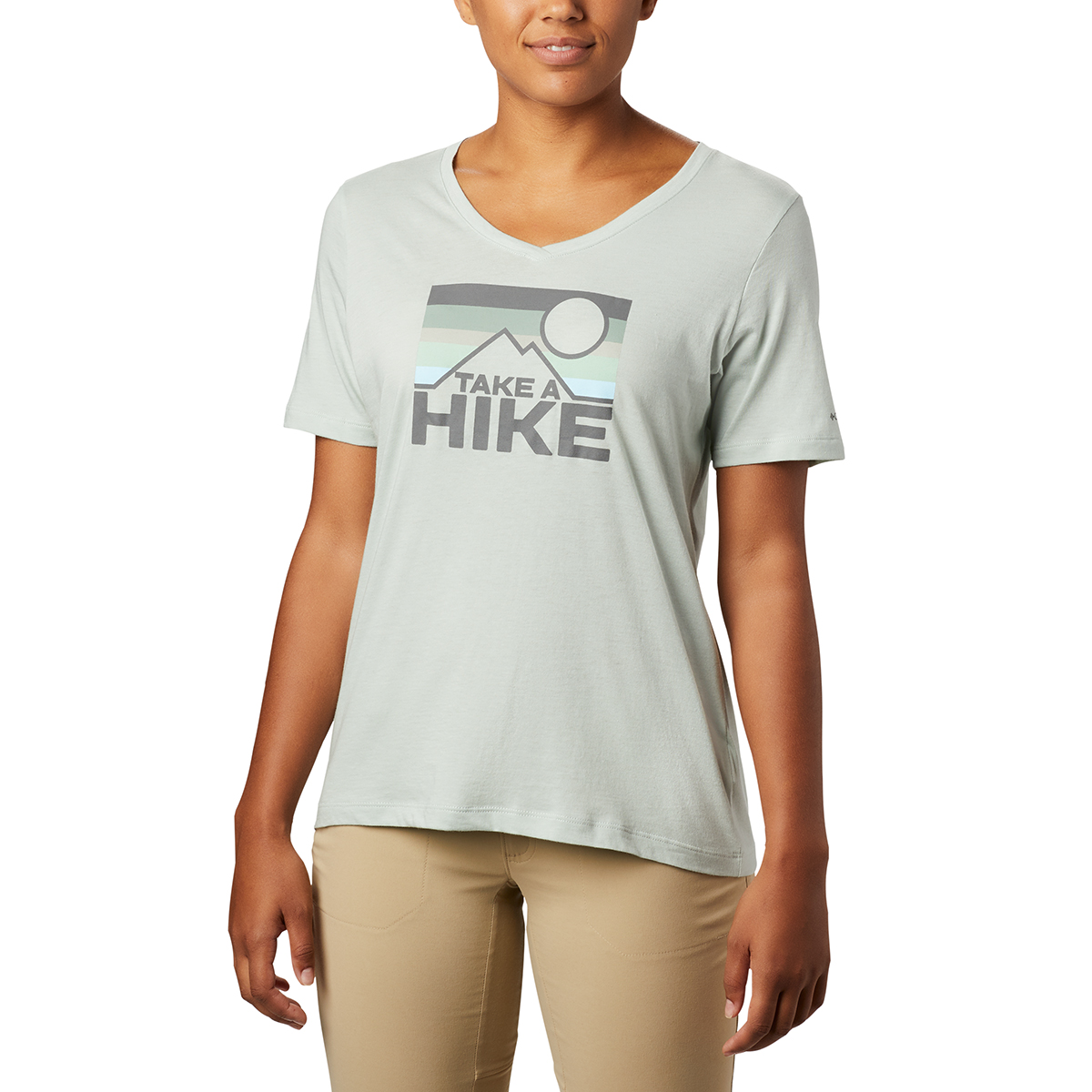 Columbia Women's Short-Sleeve Mount Rose Relaxed Tee - Green, S