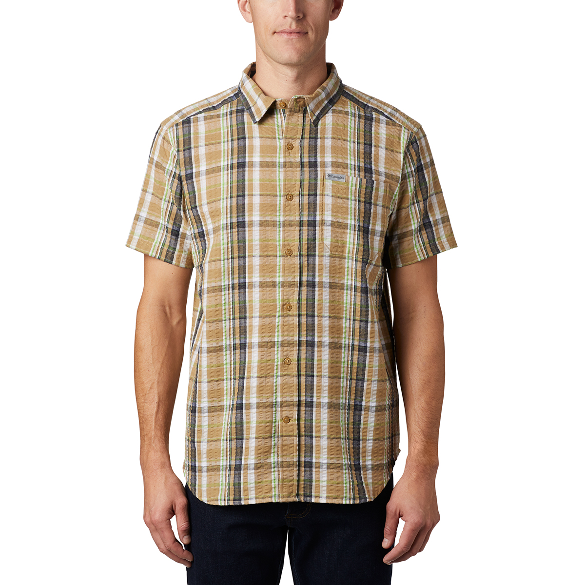 Columbia Men's Short-Sleeve Brentyn Trail Shirt - Brown, M