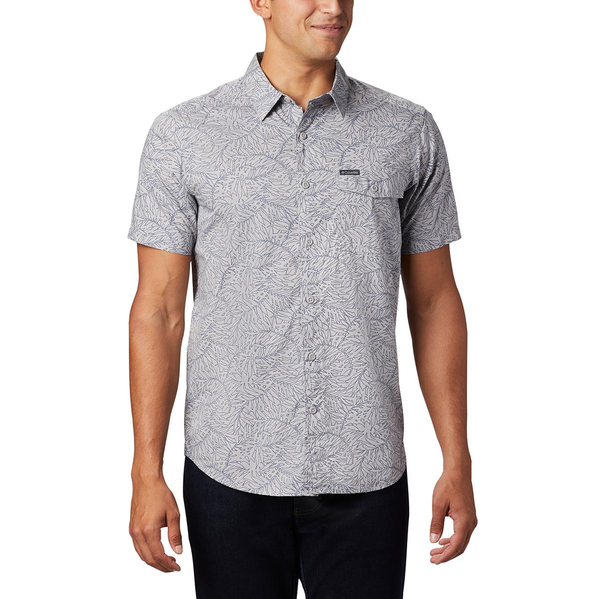 Columbia Men's Summer Chill Short-Sleeve Shirt - Black, XL