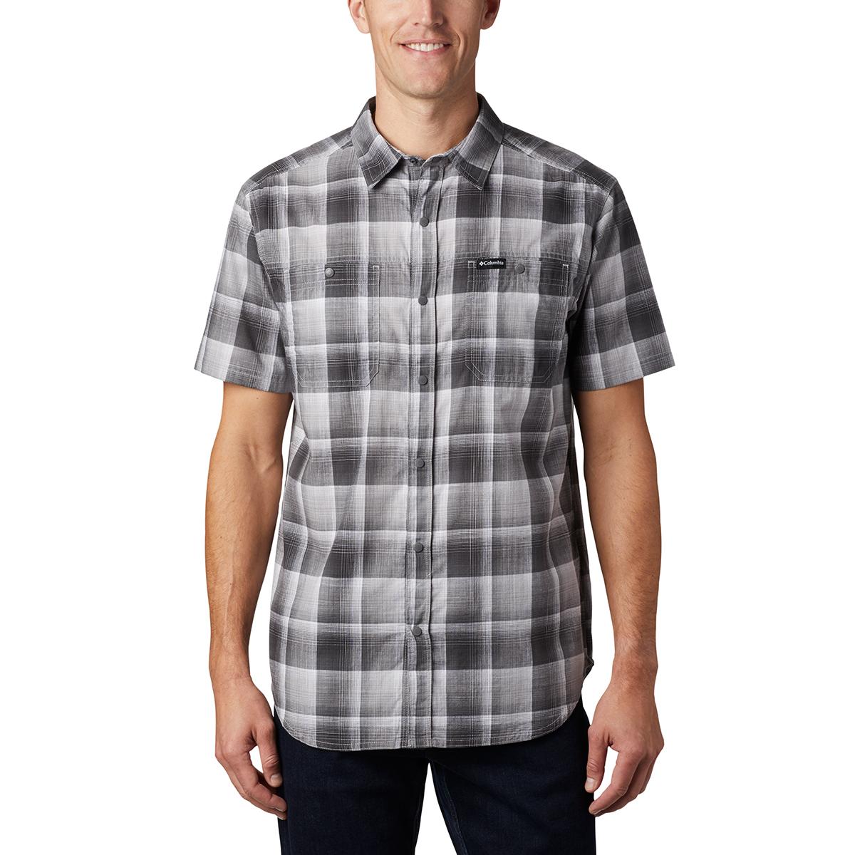 Columbia Men's Short-Sleeve Leadville Ridge Ii Button-Down Shirt - Black, M