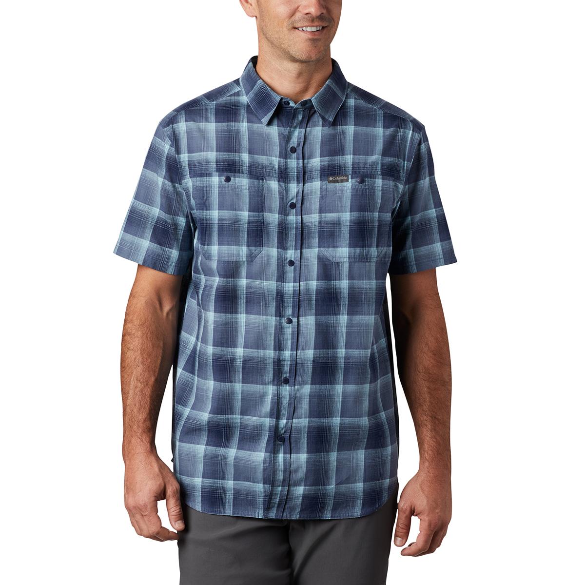 Columbia Men's Short-Sleeve Leadville Ridge Ii Button-Down Shirt - Blue, M