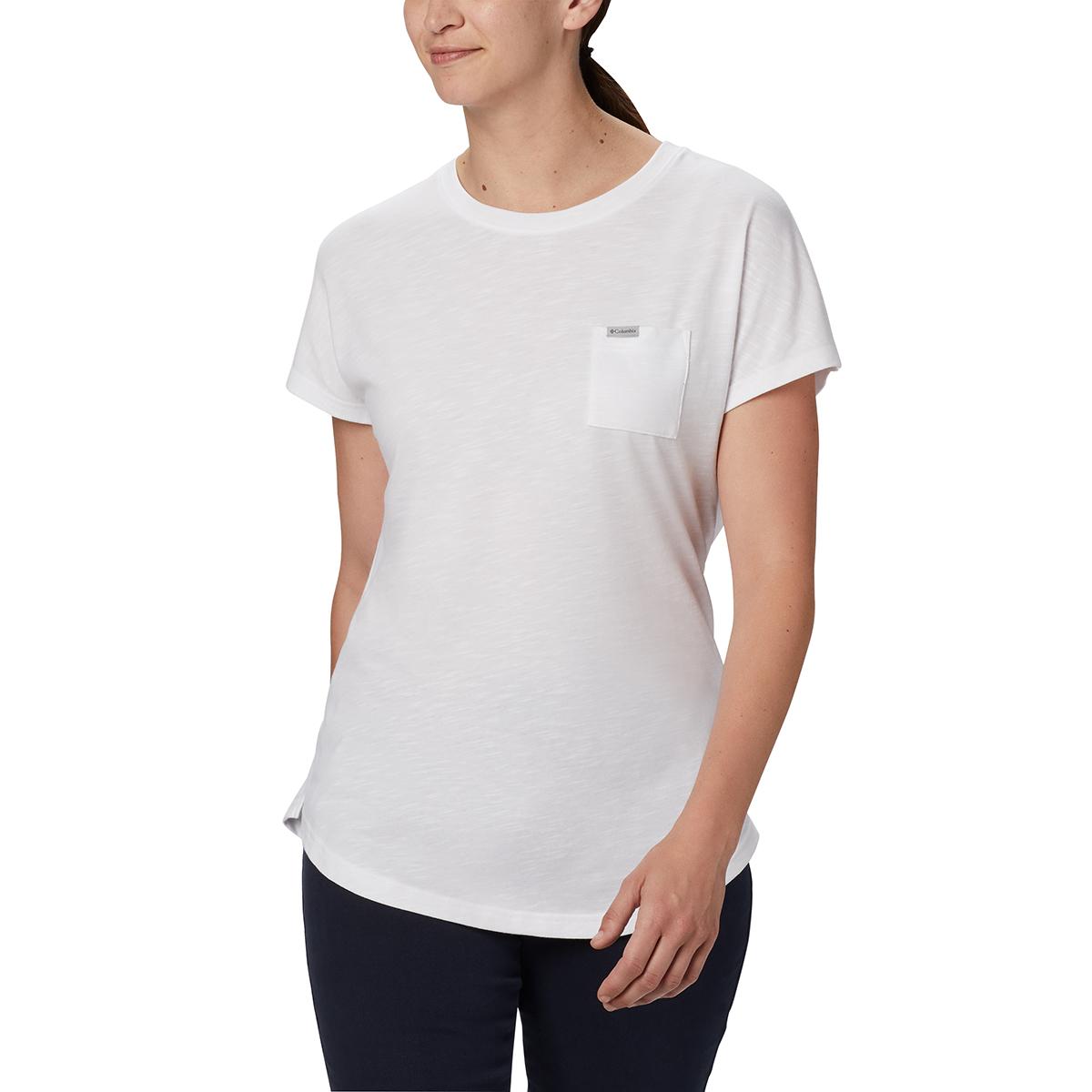 Columbia Women's Cades Cape Short-Sleeve Tee - White, XL
