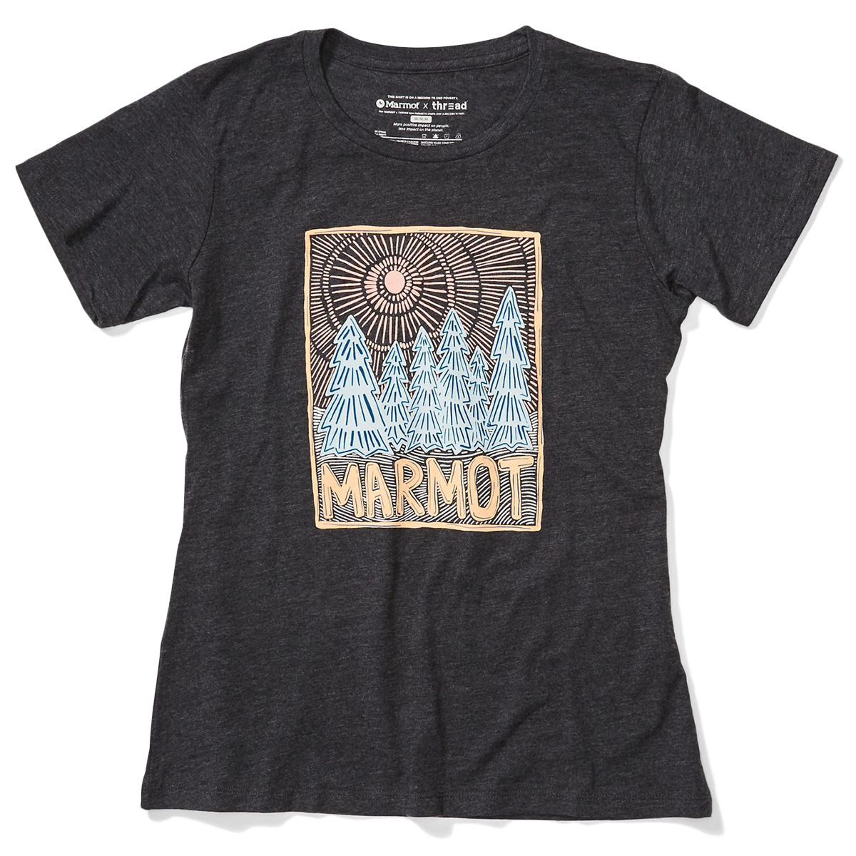 Marmot Women's Woodblock Short-Sleeve Tee - Black, S