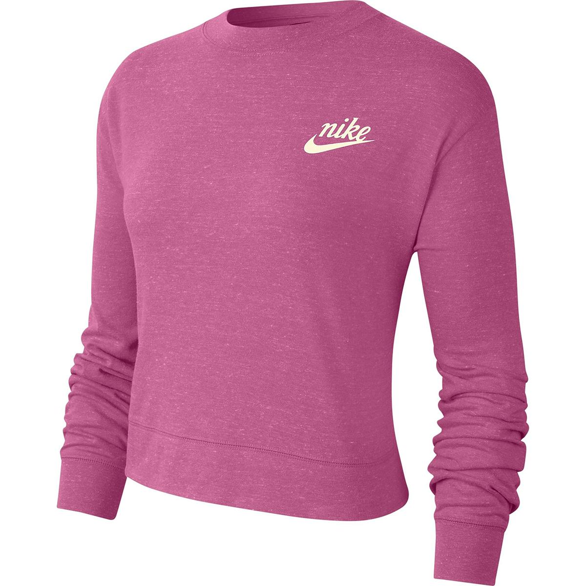 Nike Women's Sportswear Gym Cropped Crew Top - Red, L