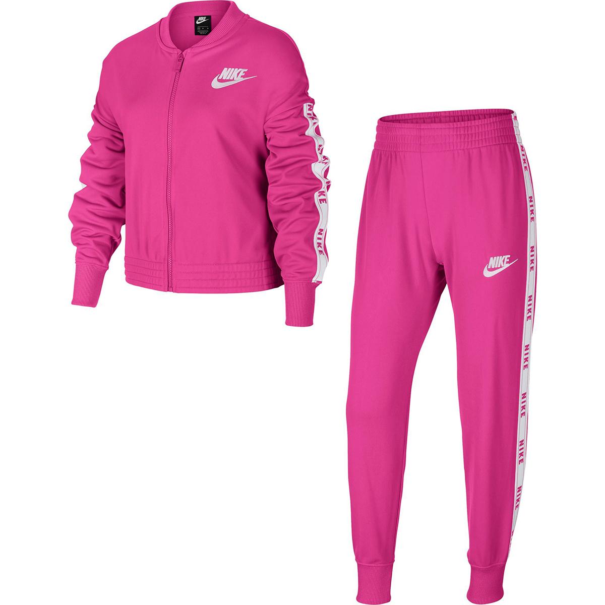 Nike Girls' Sportswear Tracksuit - Red, M