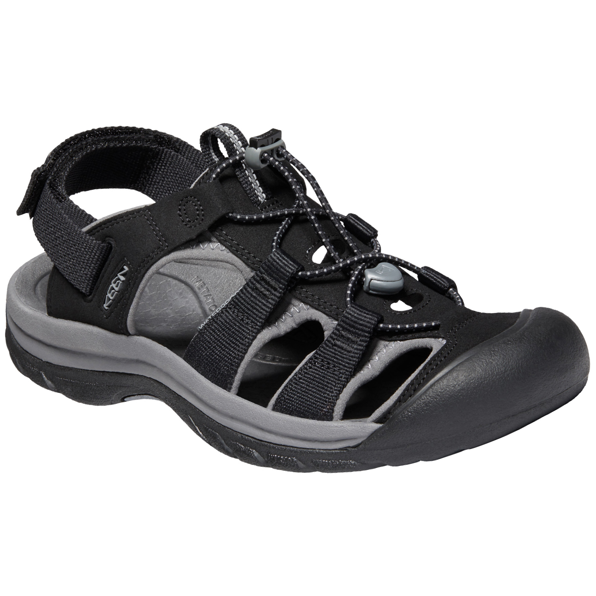 Keen Men's Rapid H2 Sandal - Black, 9