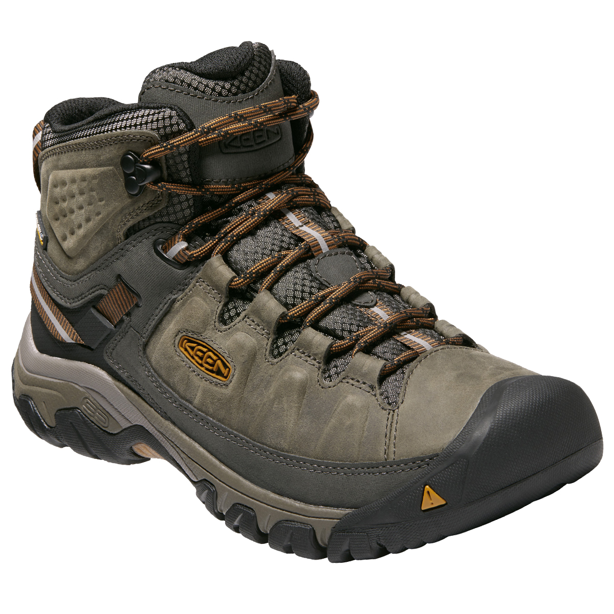 Keen Men's Targhee 3 Waterproof Hiking Shoe, Wide - Brown, 11.5
