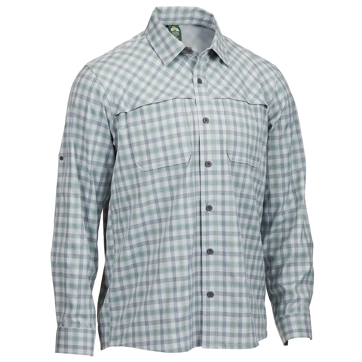 Ems Men's Journey Plaid Long-Sleeve Shirt - Brown, S
