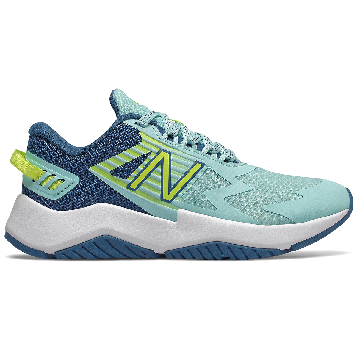 New Balance Big Girls' Rave Running Sneakers - Green, 3.5