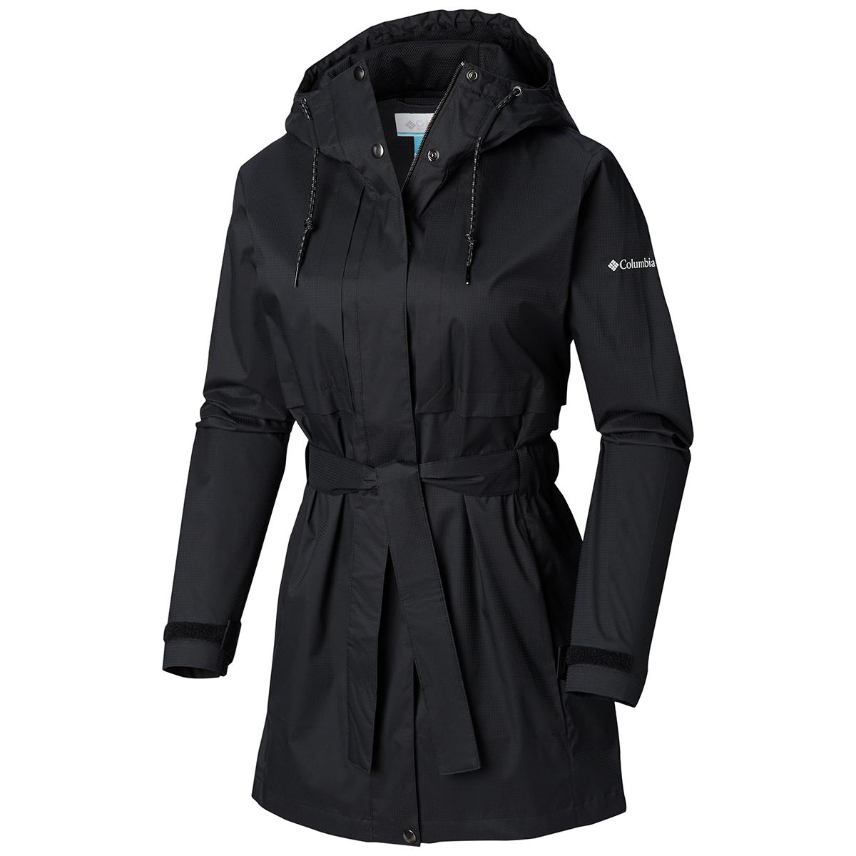 Columbia Women's Pardon My Trench Rain Jacket - Black, S