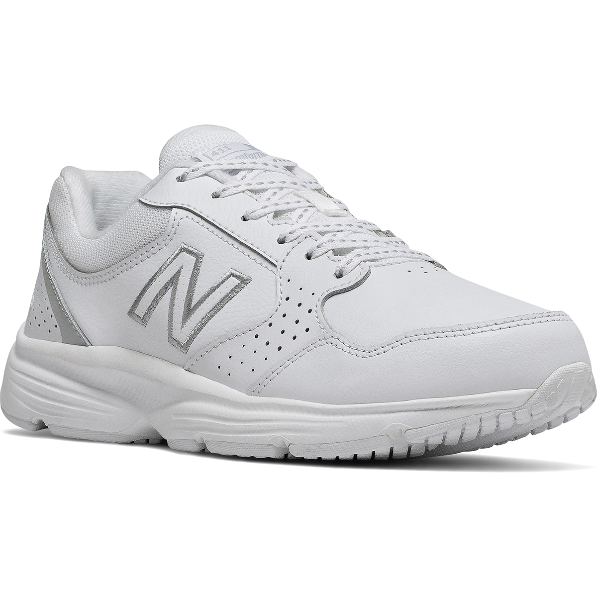 New Balance Women's 411 Walking Shoes, Wide - White, 10