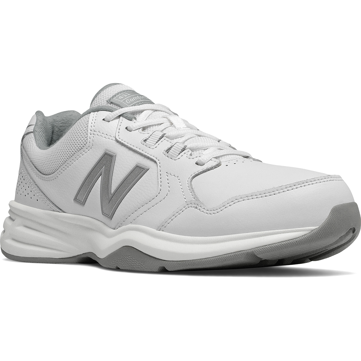New Balance Men's 411 Walking Shoes, Wide - White, 9.5