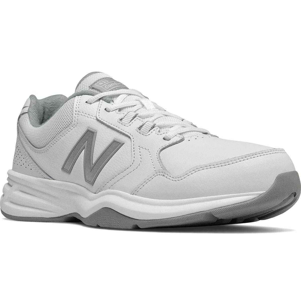 New Balance Men's 411 Walking Shoes, Wide - White, 8