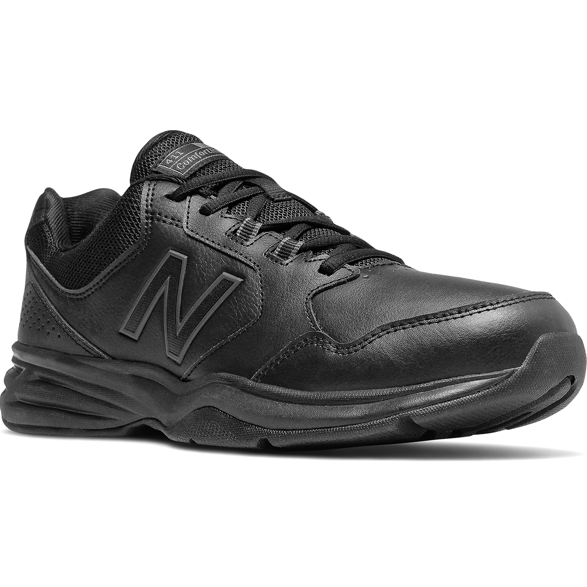 New Balance Men's 411 Walking Shoes - Black, 8.5