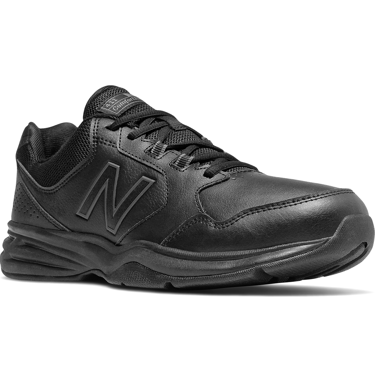 New Balance Men's 411 Walking Shoes, Wide - Black, 9.5